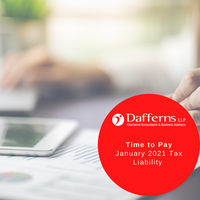 Time to pay – Jan 21 tax liability